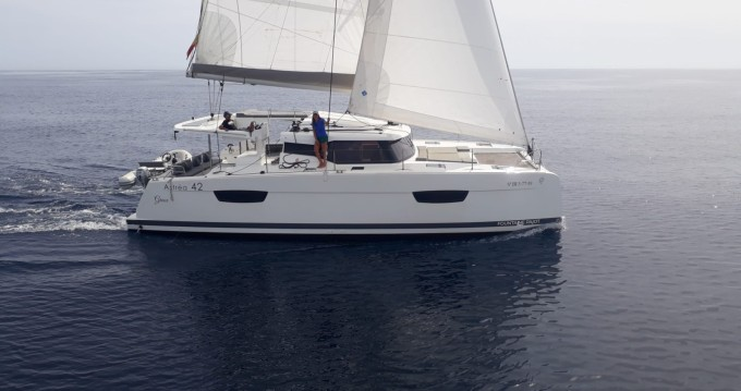 Fountaine Pajot Astrea 42 between personal and professional Ibiza Island