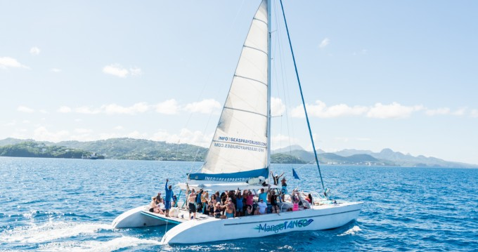 Rent a custom build 52ft Power, Sailing Catamaran Rodney Bay