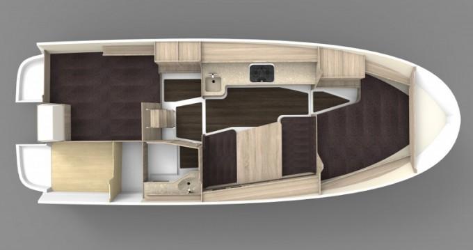 Boat rental Northman Nexus Revo 870 Prestige +/2cab in Wilkasy on Samboat