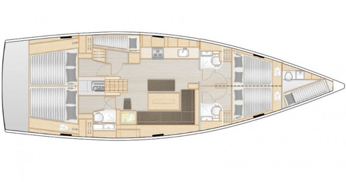 Rental yacht Lávrio - Hanse Hanse 508 on SamBoat