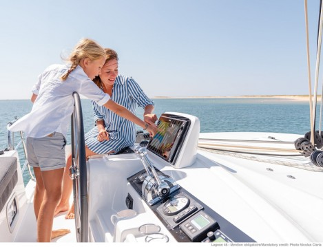 Boat rental Paros Island cheap Lagoon 46