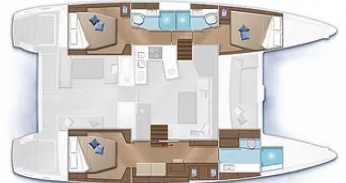 Boat rental Port Grimaud cheap Lagoon 450