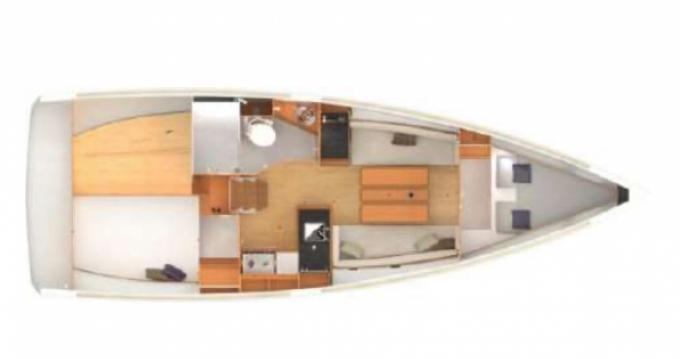 Boat rental Golfe-Juan cheap Sun Odyssey 349