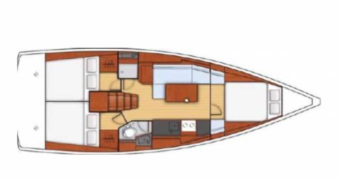 Rental Sailboat in Golfe-Juan - Oceanis Océanis 38.1