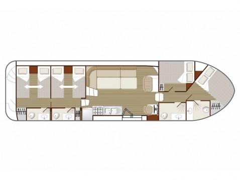 Rental yacht Sablé-sur-Sarthe -  Confort 1350 B on SamBoat