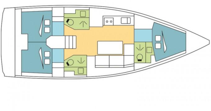 Rental yacht Kos - Dufour Dufour 390 Grand Large on SamBoat