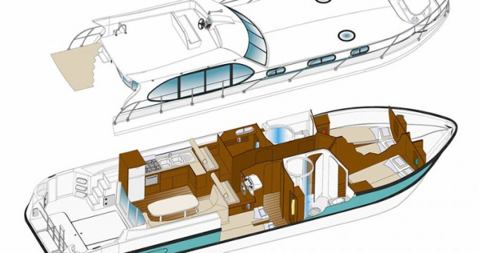 Rental Motorboat in Tokaj -  Estivale Octo
