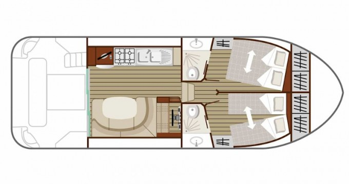 Rental yacht Grez-Neuville -  Estivale Quattro B on SamBoat