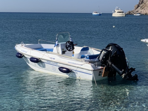 Motorboat for rent Milos at the best price