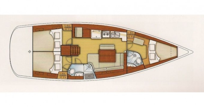 Boat rental Achilleio cheap Oceanis 43