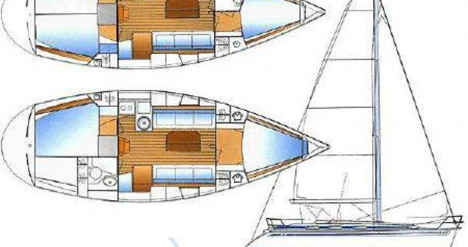 Boat rental Lefkas Egremni cheap Bavaria 34 Cruiser