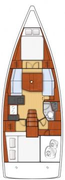 Rental Sailboat in Göcek - Bénéteau Oceanis 38.1