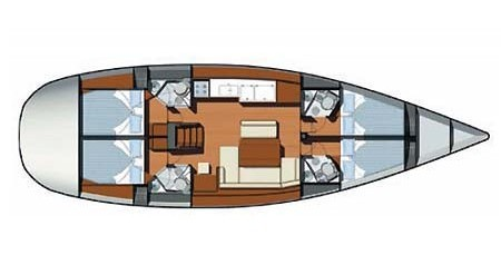 Boat rental Jeanneau Sun Odyssey 49i in Skradin on Samboat