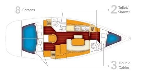 Rental yacht Yerseke - Bénéteau Cyclades 39 on SamBoat