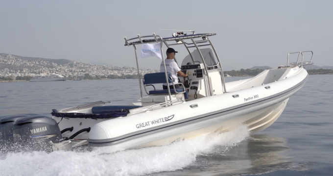 Hire RIB with or without skipper Great White Athens