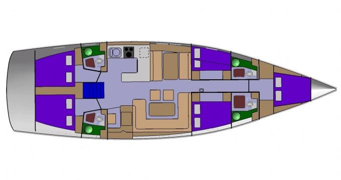 Rent a D&D Yacht D&D Kufner 54.2 Trogir