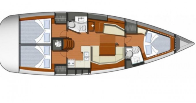 Jeanneau Sun Odyssey 42i between personal and professional Lefkada (Island)