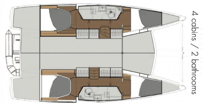 Rental Catamaran in La Rochelle - Fountaine Pajot Lucia 40