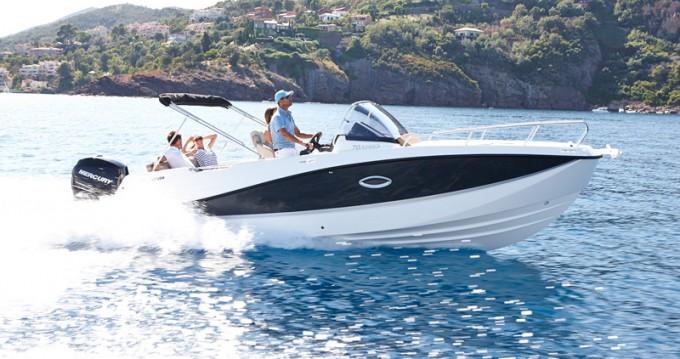 Boat rental Ibiza Island cheap Activ 755 Sundeck