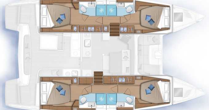 Boat rental Lefkada (Island) cheap Lagoon 46