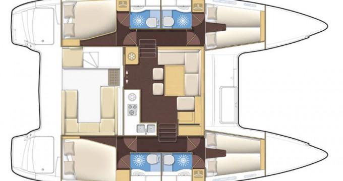 Rental yacht Palma de Mallorca - Lagoon Lagoon 400 S2 on SamBoat