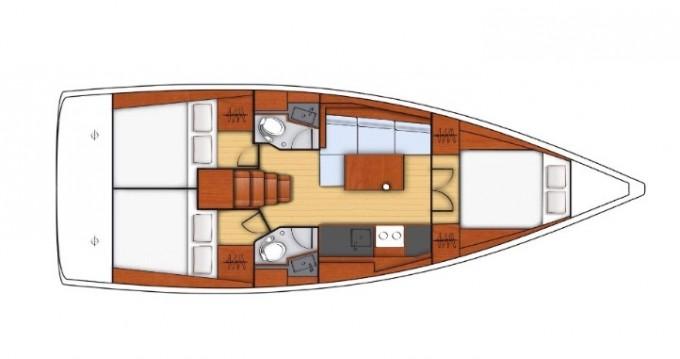 Boat rental Marina di Portorosa cheap Oceanis 38.1