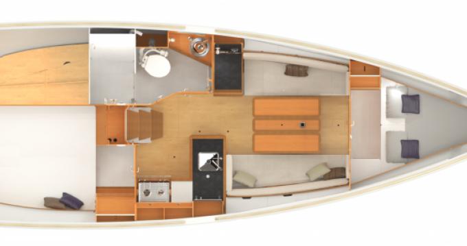 Rental Sailboat in Arzon - Jeanneau Sun Odyssey 349