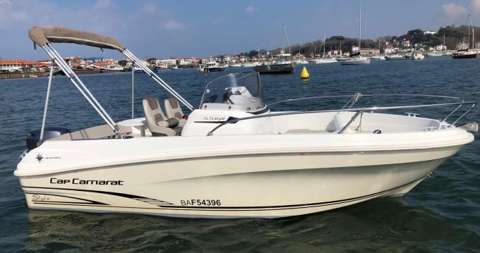 Rental yacht Hendaye - Jeanneau Cap Camarat 5.5 CC Serie 2 on SamBoat