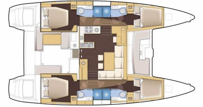 Boat rental Palau cheap Lagoon 450 F