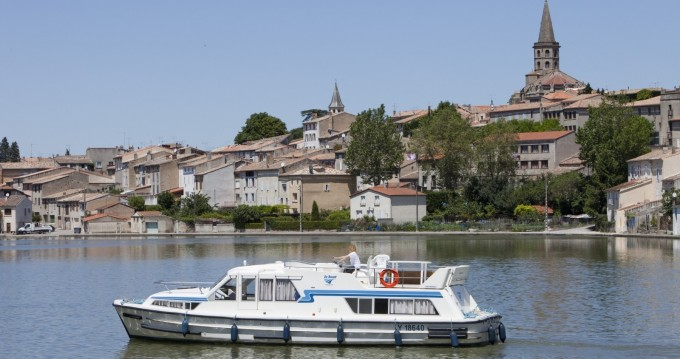 Hire Canal boat with or without skipper Continentale Le Mas-d'Agenais