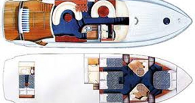 Rental yacht Lávrio - Fairline Fairline Squadron 55 on SamBoat
