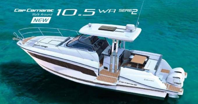 Rental Motorboat Jeanneau with a permit