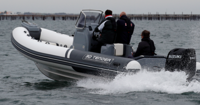 Hire RIB with or without skipper 3D Tender Le Canon