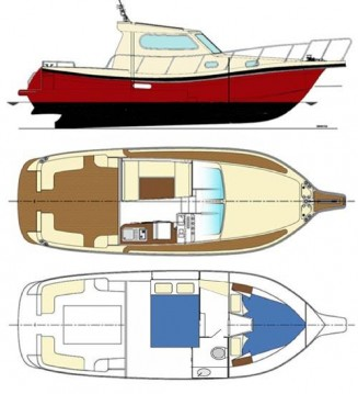 Rental Motorboat Damor with a permit