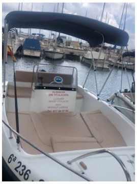Rental Motorboat  POLYESTER YACT with a permit
