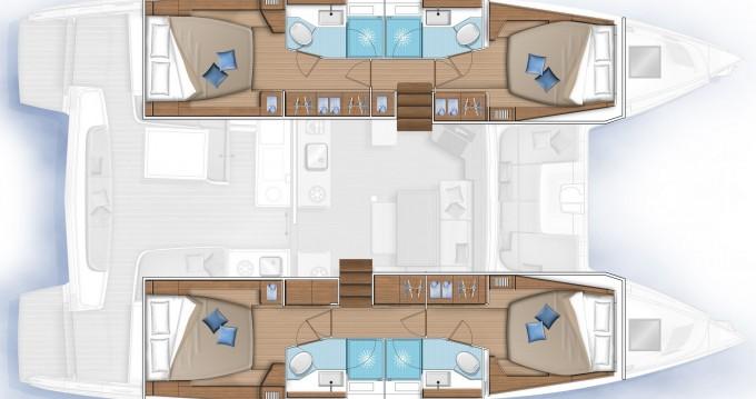 Rental yacht Lefkada (Island) - Lagoon Lagoon 46 on SamBoat