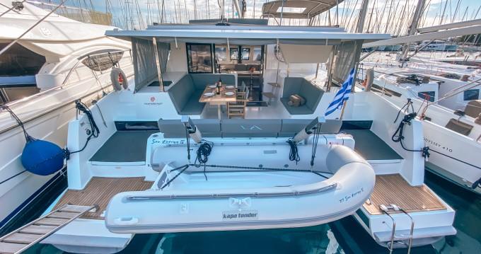 Boat rental Alimos cheap Lucia 40 ( INVENTER - SOLAR PANELS )