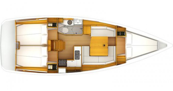Boat rental Trogir cheap Sun Odyssey 389 JP
