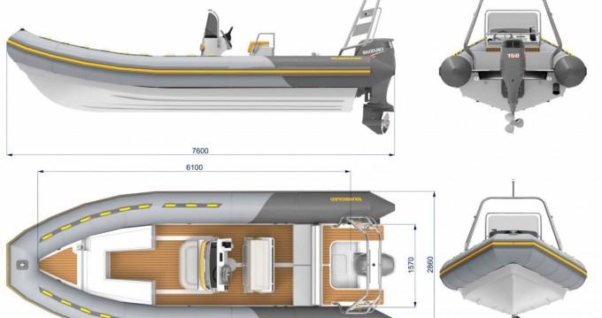 Rental yacht Port de Bormes-les-Mimosas - Vanguard 760 Family  on SamBoat