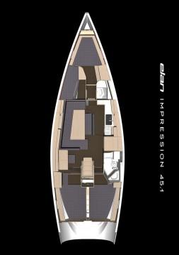 Rental Sailboat in Athens - Elan Impression 45.1
