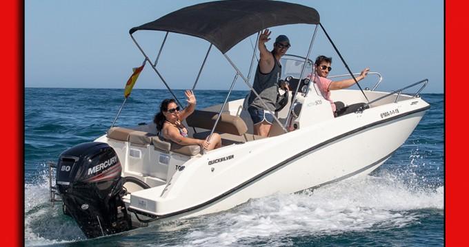 Boat rental Puerto Marina Benalmadena cheap Quicksilver 505 Open