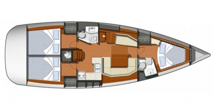 Boat rental Jeanneau Sun Odyssey 42i in Marmaris on Samboat