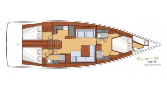 Rental yacht Sant Antoni de Portmany - Bénéteau Oceanis 55 on SamBoat