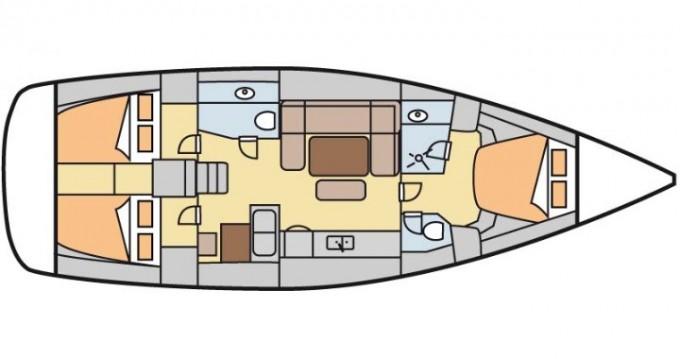 Boat rental Dufour Dufour 445 GL 6 pax in Marmaris on Samboat