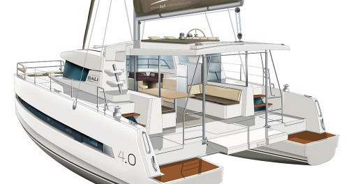 Boat rental Scrub Island cheap Bali 4.0 - 4 + 2 cab.