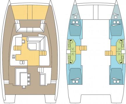 Rental yacht Scrub Island - Catana Bali 4.5 - 4 + 2 cab. on SamBoat