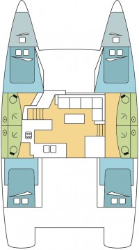 Hire Catamaran with or without skipper Fountaine Pajot Scrub Island