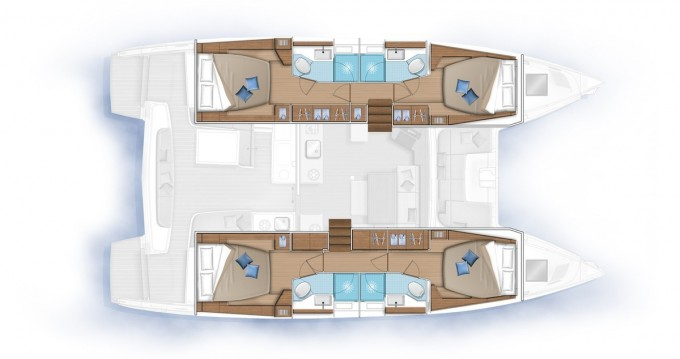 Rental Catamaran in Le Marin - Lagoon Lagoon 46