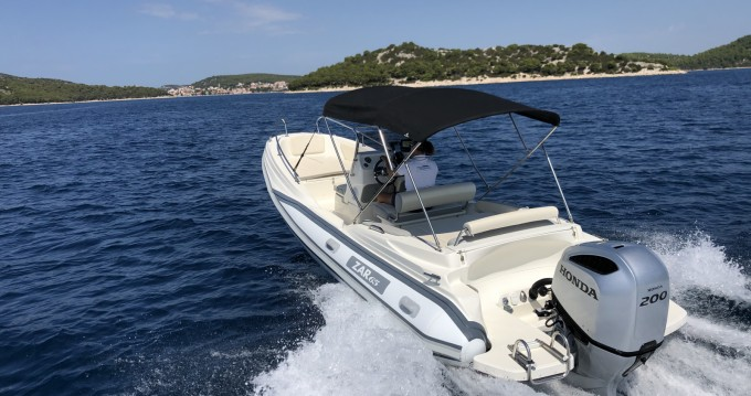 Hire RIB with or without skipper ZAR CRO White Tisno