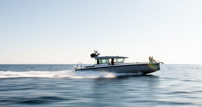 Axopar 37 Cross Cabin between personal and professional Athens
